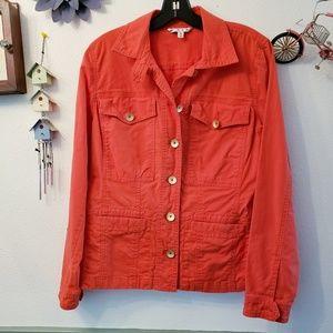 Cabi Women's Red Jean Jacket